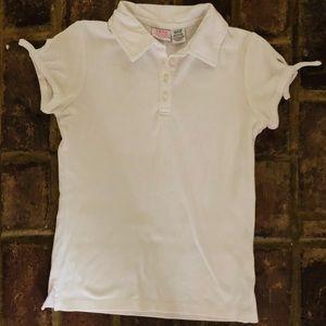 Izod girl's white polo
